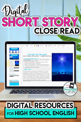 Digital Short Story Close Read for High School English
