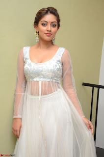 Anu Emmanuel in a Transparent White Choli Cream Ghagra Stunning Pics 062.JPG