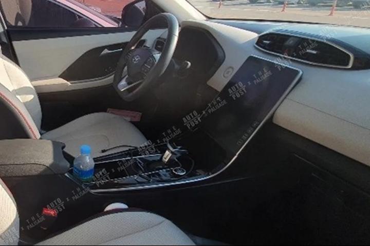 Lộ ảnh Hyundai SantaFe 2021 dùng màn hình to như xe VinFast