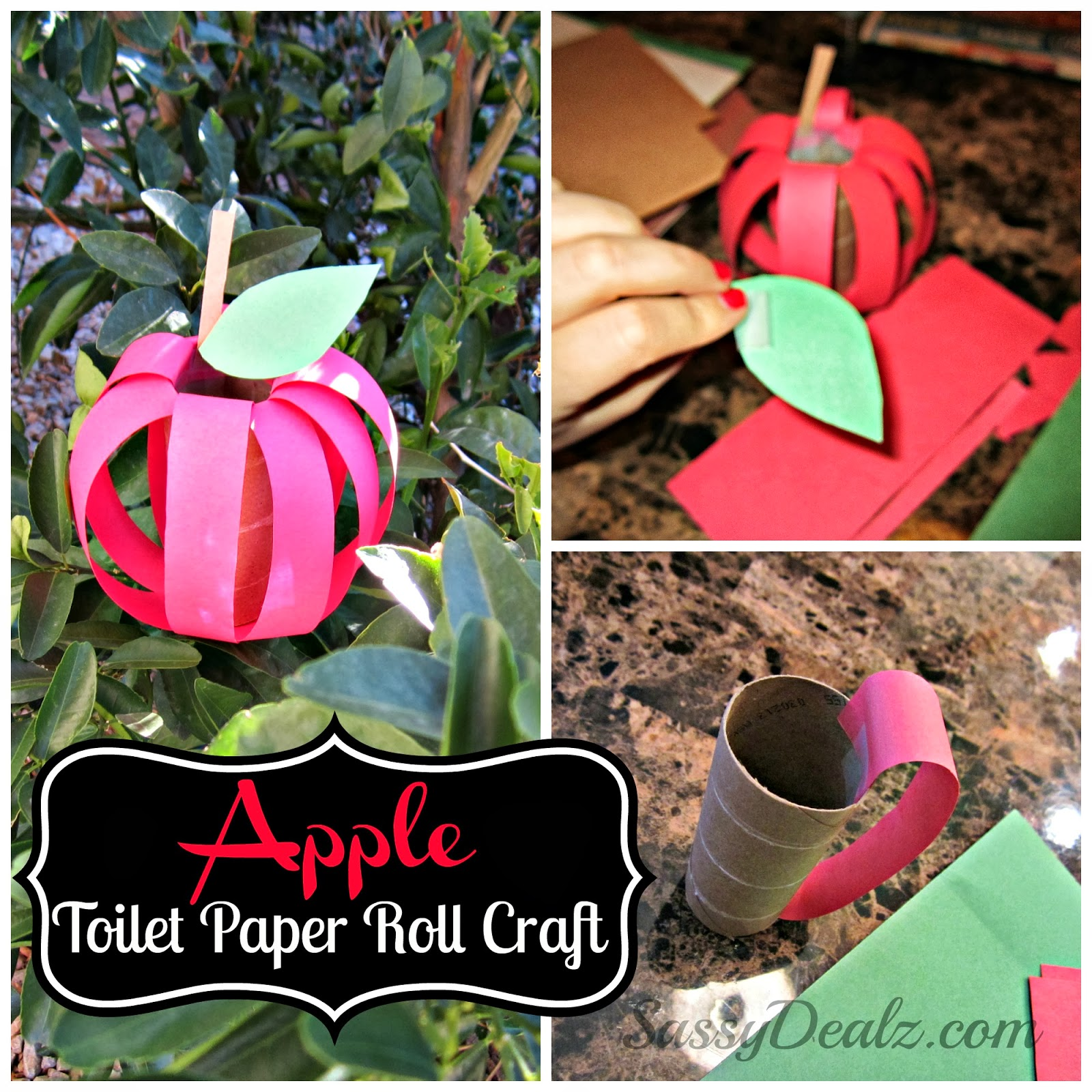 Diy Apple Toilet Paper Roll Craft For Kids Crafty Morning