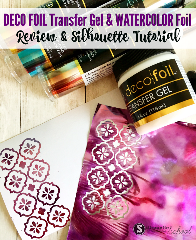 Deco Foil Transfer Gel Tutorial  Review silhouette cameo