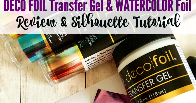 Deco Gel Transfer Gel And Foil Review And Silhouette