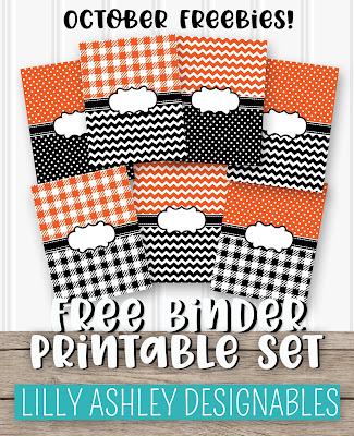 free binder printables