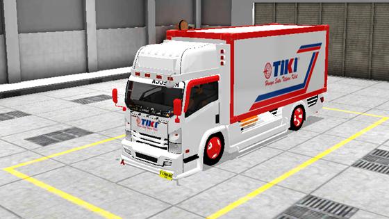 livery mod truck isuzu nmr71 box bussid tiki