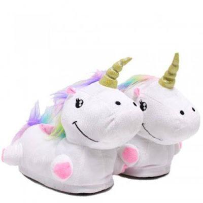 Pantufas de unicornio