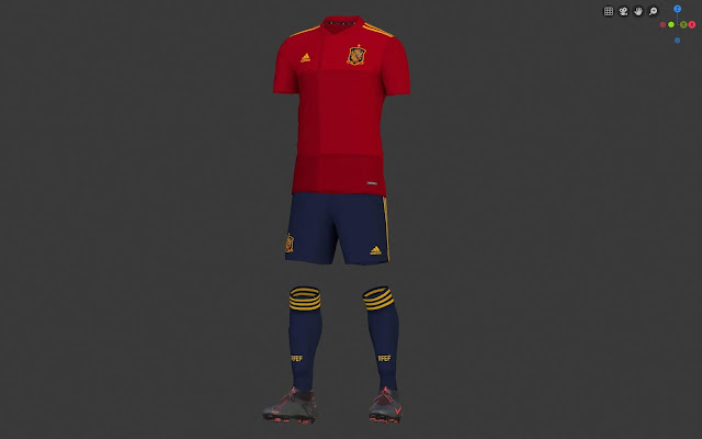PES 2020 Spain Home Kit For Euro 2020 by Bromley