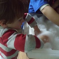 toddlers bubbles states of matter science learning
