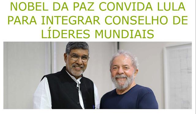 Resultado de imagem para Lula Prêmio Nobel da Paz