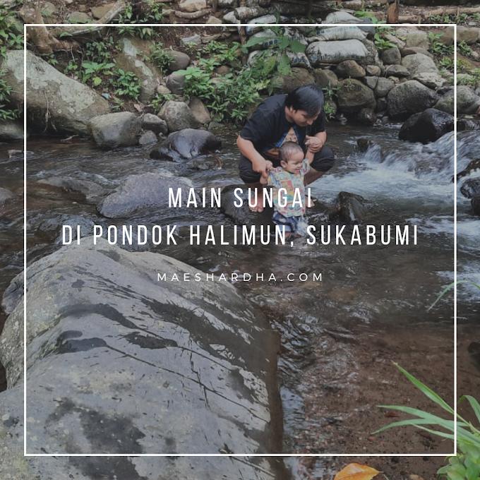 Main Sungai di Pondok Halimun, Sukabumi