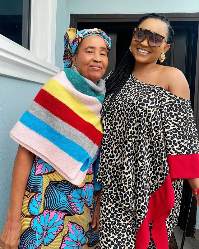 Mercy Aigbe Shares Adorable Photo With Her Look Alike Mother