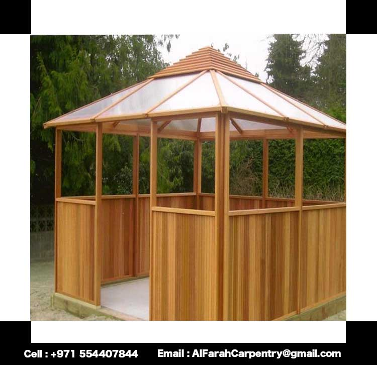 Wooden gazebo garden gazebo in uae cabanas gazebo uae for Creative gazebos
