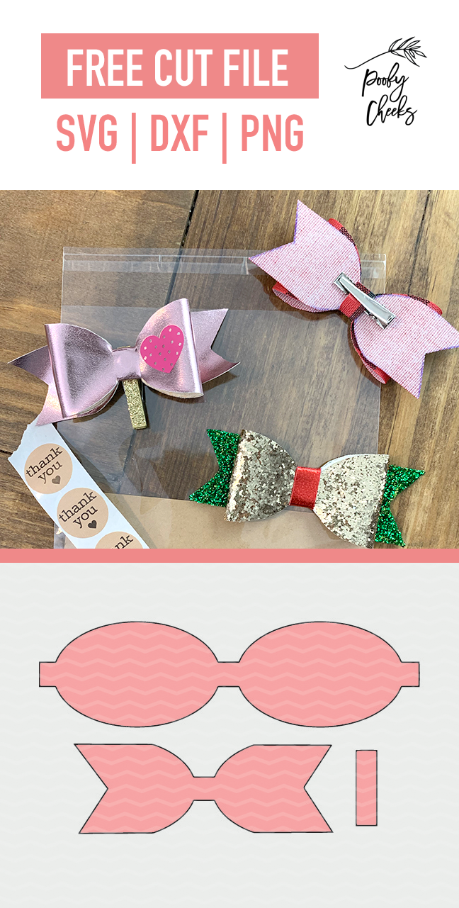 Free Templates Svgs For Faux Leather Hair Bows