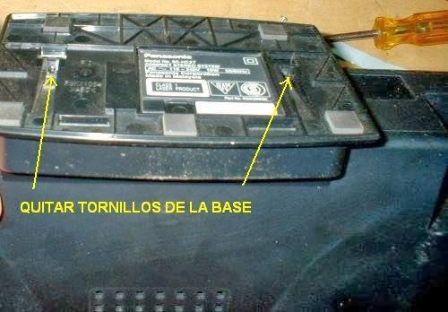 tornillos base del componente de audio panasonic sc-hc27