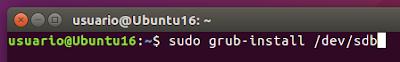 sudo grub-install /dev/sdb