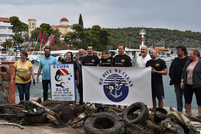 Εθελοντές δύτες και δεκάδες Porsche στο λιμάνι της Αρχαίας Επιδαύρου