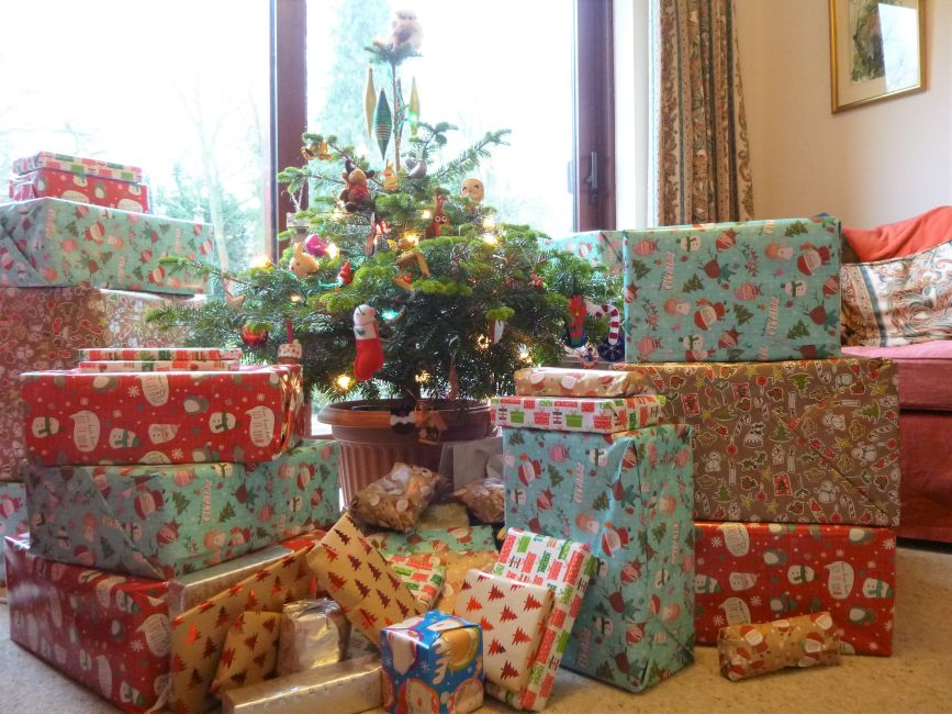 the trickiest part of the plan was wrapping all those big boxes in secret on christmas eve and sneaking them into the lounge that afternoon when no one was - Big Christmas Gifts