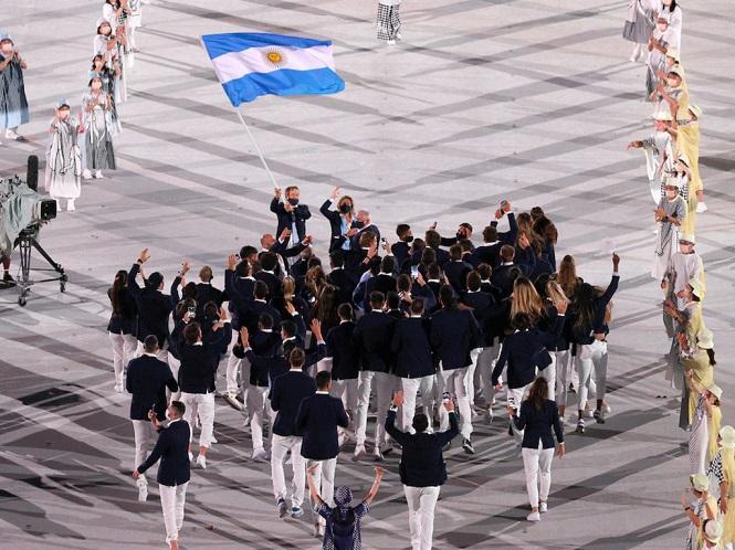 Así fue la entrada de la delegación argentina en la inauguración de los JJOO