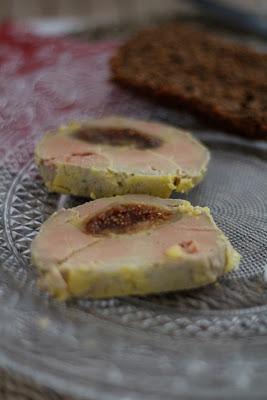 foie gras, mi cuit , figues , noel