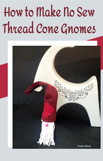 how to make recycled thread cone gnomes