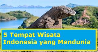 5 tempat wisara Indonesia yang mendunia