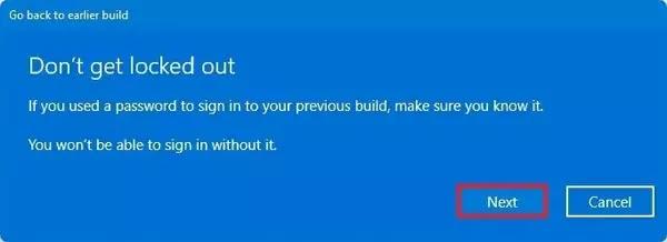 خيار استعادة كلمة مرور Windows 11