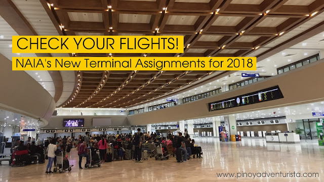 NAIA NEW AIRPORT TERMINAL ASSIGNMENTS 2018