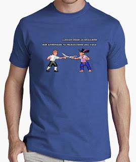 Camisetas Monkey Island peleas como un granjero