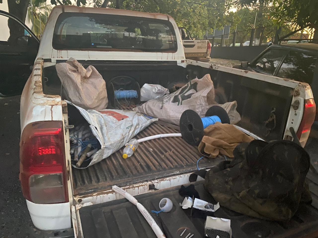 Polícia Federal realiza flagrante de extração ilegal de minério e uso de explosivos em Marabá.