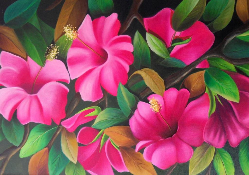 Cuadros pinturas arte pintura flores modernas - Cuadros flores modernas ...