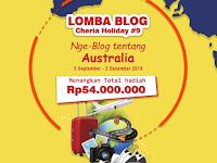 Lomba Menulis Blog Nasional 2019 di Cheria Holiday
