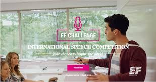 EF Challenge competição Internacional de discursos
