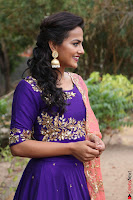 Actress Shraddha Srinath in Purple Chania Choli Cute Pics ~  Exclusive 41.jpg