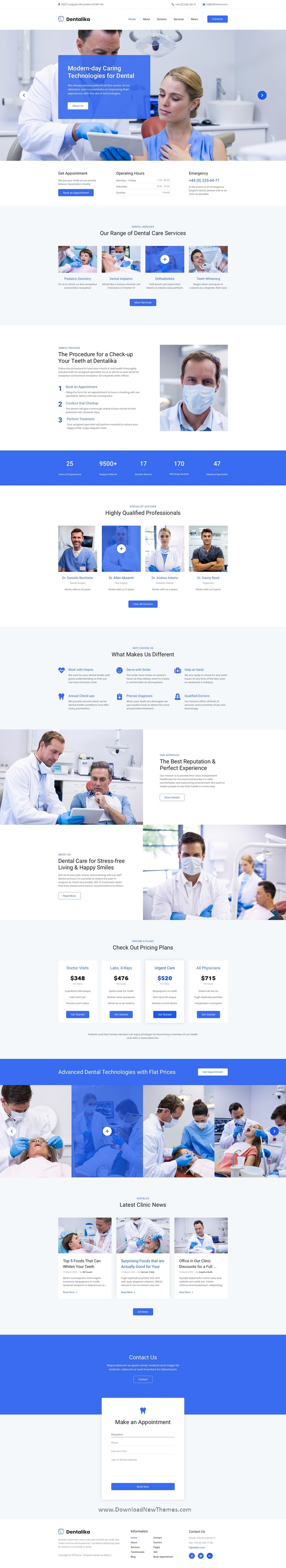 Dental clinic Adobe XD Template