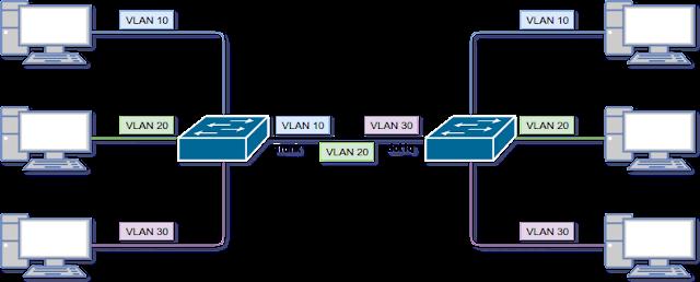 Pengertian trunking pada switch cisco (dot1q)