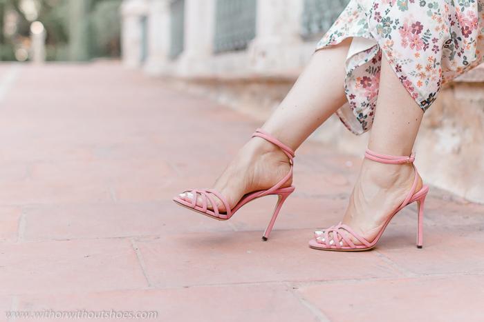 BLog adicta a los zapatos sandalias rosas Jimmy Choo