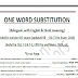 ONE WORD SUBSTITUTION  (Bilingual- with English & Hindi meaning)