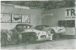TR Service Bay at L F Dove Wimbledon 1965