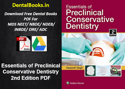 Essentials of Preclinical Conservative Dentistry 2nd Edition PDF DOWNLOAD