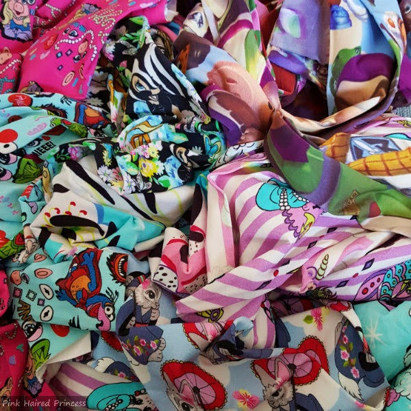 pile of colourful printed, patterned Irregular Choice tights