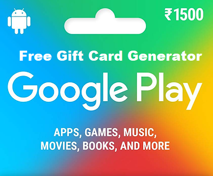 Google Play Free Gift Card Generator