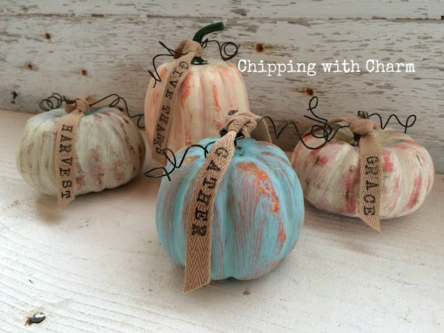 Chipping with Charm: Painted Pumpkins www.chippingwithcharm.blogspot.com