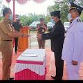 Serah Terima Jabatan Camat Air Hitam Dari Camat Lama Drs M.Dahlin Kepada Camat Baru Andi  Cahyadi.SH