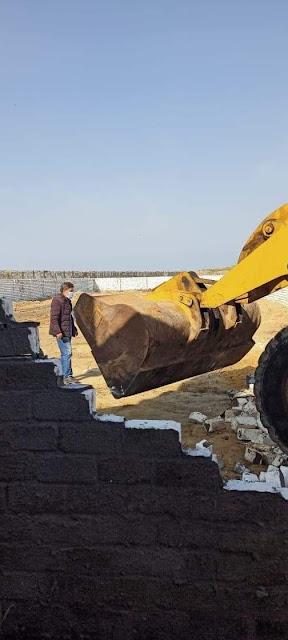 إزالة حالة تعدي على مساحة ١٨٠٠ م٢، أرض زراعية بإدكو
