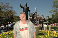me and partner statue Disneyland, Anaheim, CA