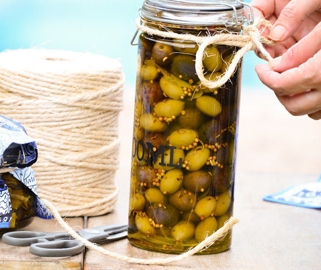 Olive in a jar