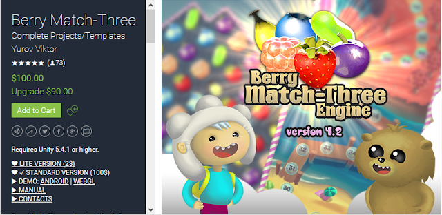 Download Soure Code Reskin Game Unity Berry Match-Three Android iOS