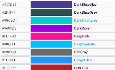 daftar warna HTML