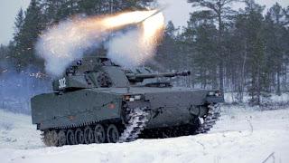 Uji Tembak Rudal Spike dari IFV CV90
