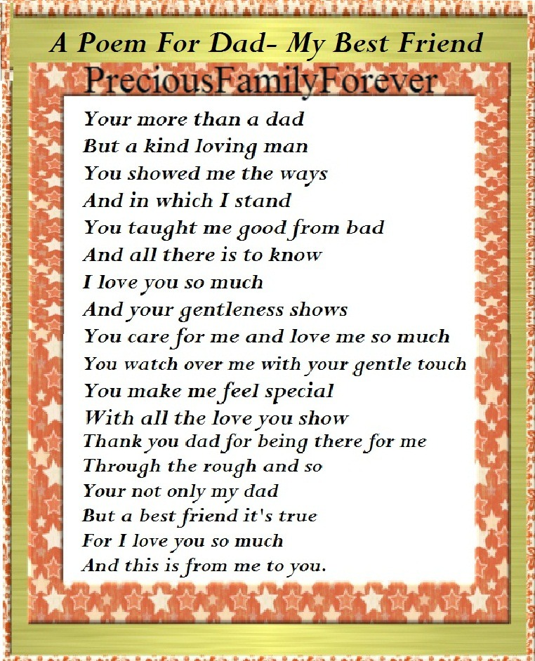 My Best Friend Is My Daughter Quotes: Precious Family: A Poem For Dad~ My Best Friend