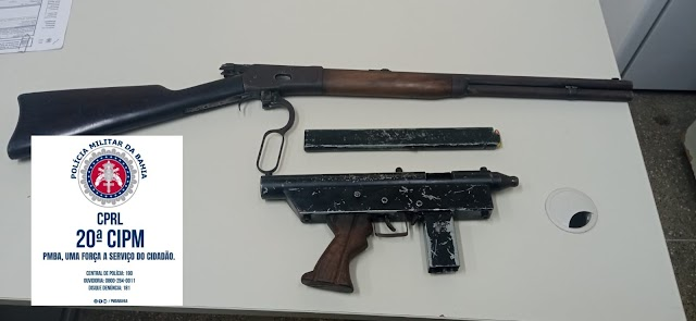 20ª CIPM apreende duas armas com suspeito em Santo Amaro